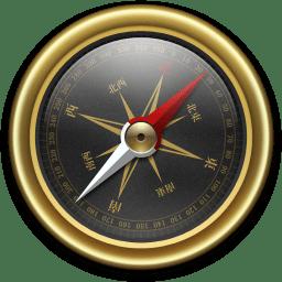 Compass Gold Black Icon Compass Iconset Mcdo Design