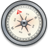 iPhone Compass Silver 2 icon