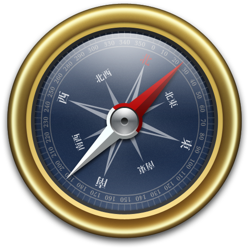 Compass-Gold-Blue icon