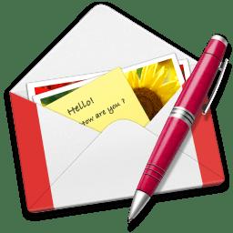 Letter GMail pen icon
