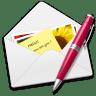 Letter-pen icon