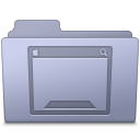 Desktop Folder Lavender icon