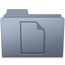 Documents Folder Graphite icon