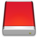 External Drive Red icon