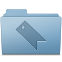Favorites Folder Blue icon