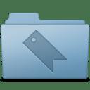 Favorites Folder Blue icon
