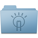 Idea Folder Blue icon