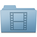 Movie Folder Blue icon