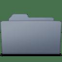 Open Folder Graphite icon