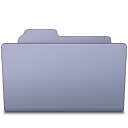 Open Folder Lavender icon