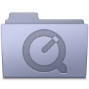 QuickTime Folder Lavender icon
