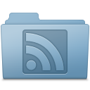 RSS Folder Blue icon