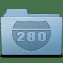 Route Folder Blue icon