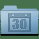 Schedule Folder Blue icon