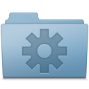 Setting Folder Blue icon