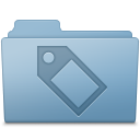Tag Folder Blue icon