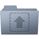 Upload Folder Graphite icon