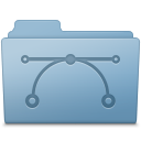 Vector Folder Blue icon