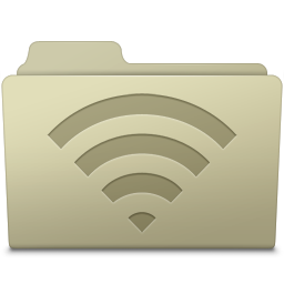 AirPort Folder Ash icon