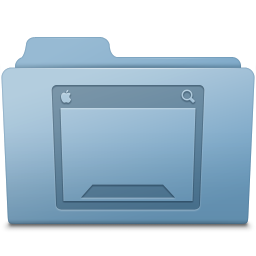 Desktop Folder Blue icon