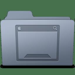 Desktop Folder Graphite icon