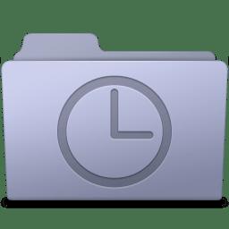History Folder Lavender icon
