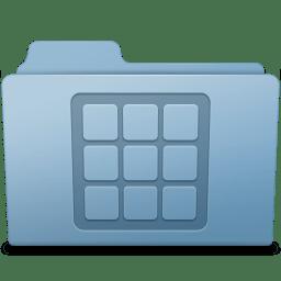 Icons Folder Blue icon