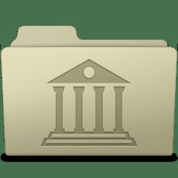 Library Folder Ash icon