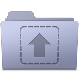Upload Folder Lavender icon