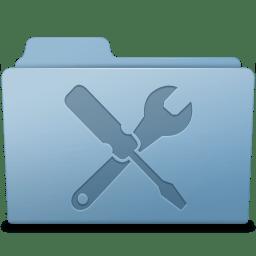 Utilities Folder Blue icon
