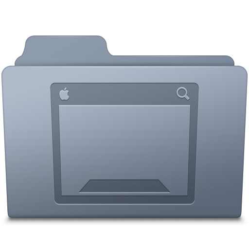 Desktop Folder Graphite icon