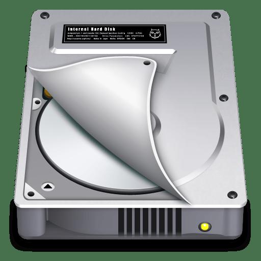 Internal Drive Half open icon