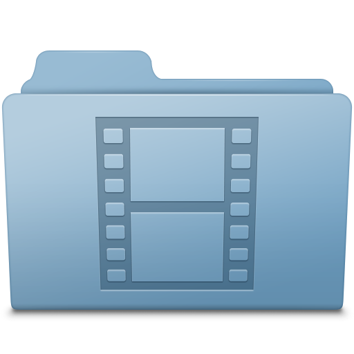 Movie Folder Blue icon