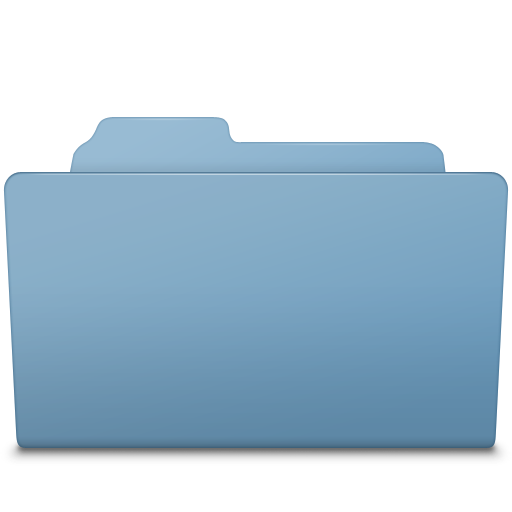 Open Folder Blue icon