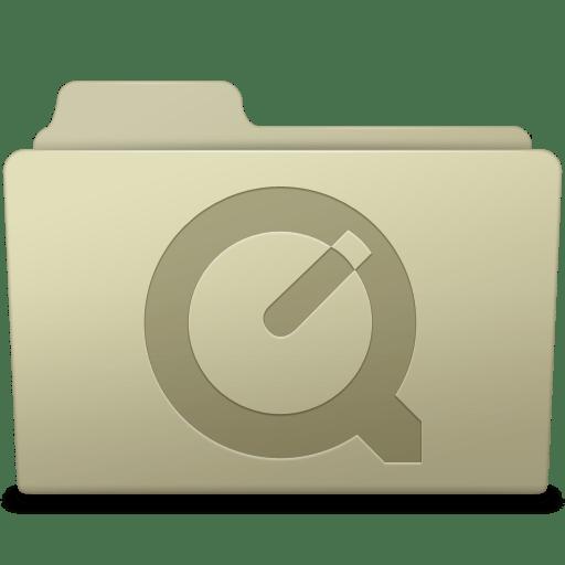 QuickTime Folder Ash icon