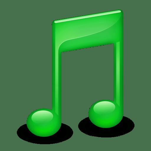 Sidebar-Music-Green icon