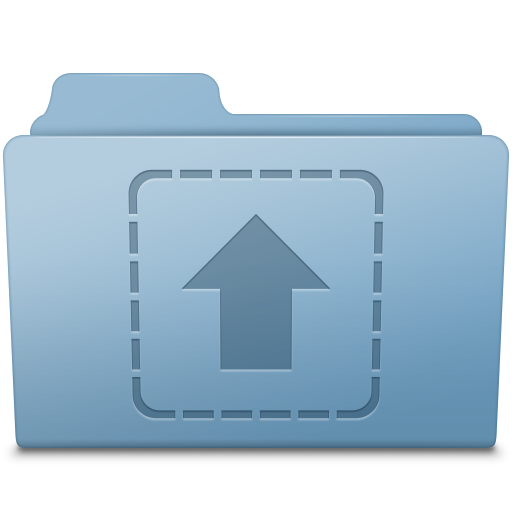 Upload-Folder-Blue icon