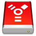 Firewire-Drive-Red icon