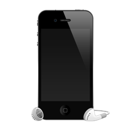 iPhone 4G headphones icon