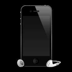 iPhone 4G headphones shadow icon