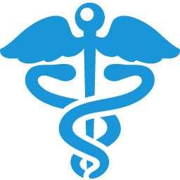 Health Sign blue icon