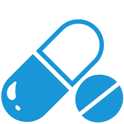 Pills blue icon