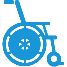 Wheelchair blue icon