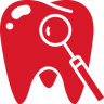 Tooth-red icon