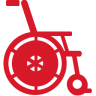 Wheelchair-red icon