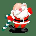 Santa dancing icon