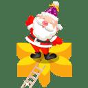 Santa flower icon