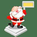 Santa sign icon
