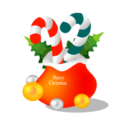 Christmas gift bag icon