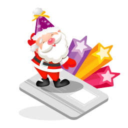Santa creditcard icon